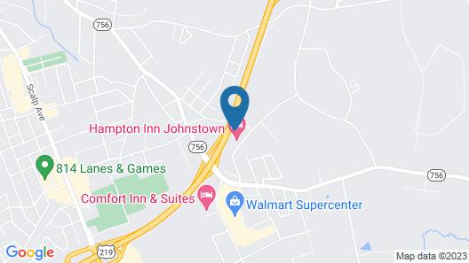 Hampton Inn Johnstown Map