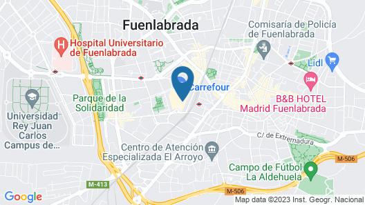 LCB Hotel Fuenlabrada Map