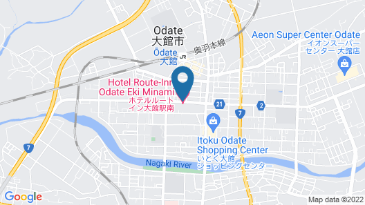 Hotel Route-Inn Odate Eki Minami Map
