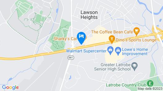Hampton Inn Latrobe Map