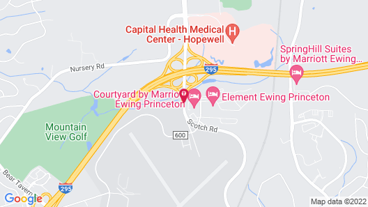 Courtyard by Marriott Ewing Princeton Map