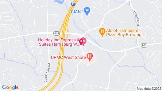 Holiday Inn Express Hotel & Suites Harrisburg West, an IHG Hotel Map