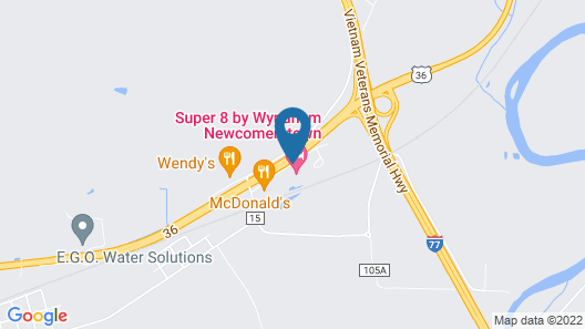 Super 8 by Wyndham Newcomerstown Map