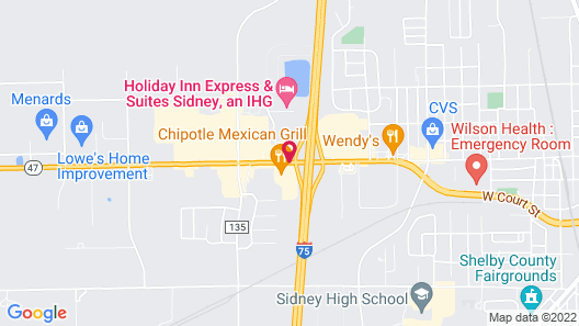 Motel 6 Sidney, OH Map