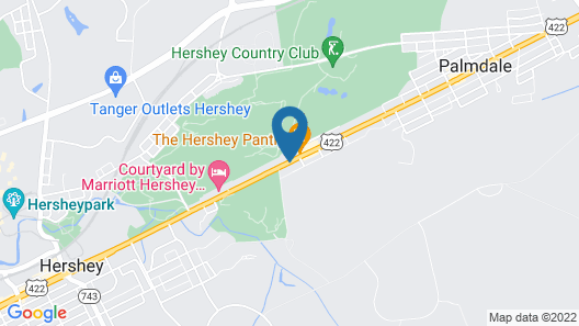 Hampton Inn & Suites Hershey Map