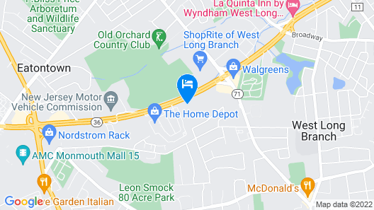 Holiday Inn Express Hotel & Suites West Long Branch, an IHG Hotel Map