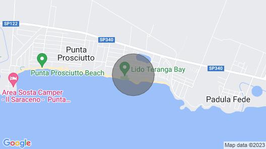 Villa Oltremare a Soli 20 Metri Dalla Spiaggia di Punta Prosciutto Map