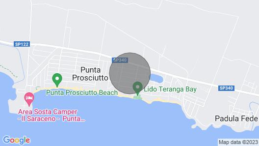 Villetta Flowers Punta Prosciutto, Lecce! Map