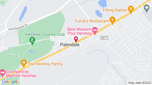 Cocoa Country Inn at Hershey Map