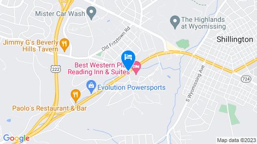 Best Western Plus Reading Inn & Suites Map