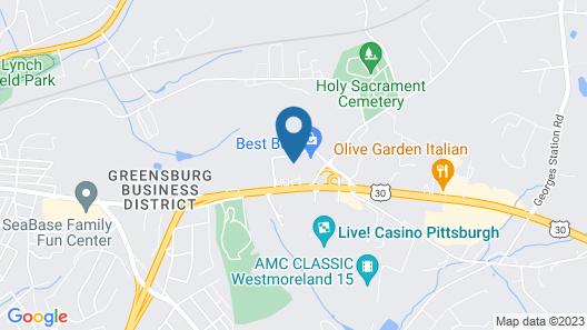 Ramada Conference Center by Wyndham Greensburg Map
