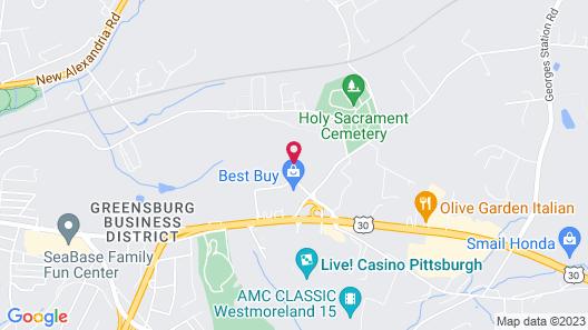 Ramada Hotel & Conference Center by Wyndham Greensburg Map