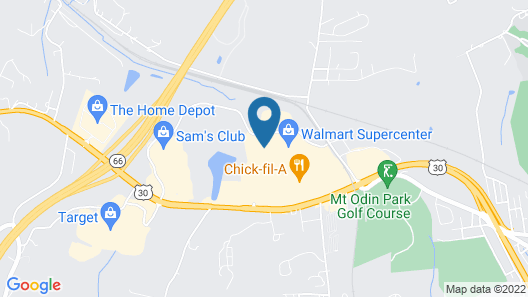 Courtyard by Marriott Pittsburgh Greensburg Map