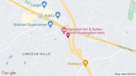 Hampton Inn & Suites North Huntingdon-Irwin, PA Map
