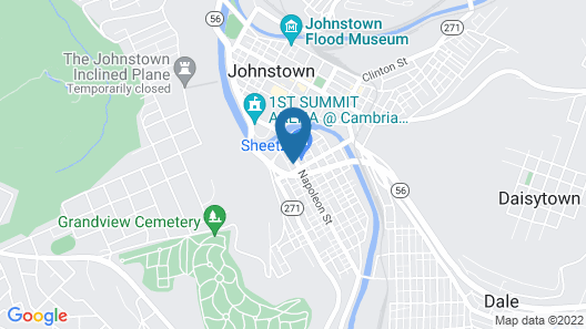 Econo Lodge Johnstown Downtown Map