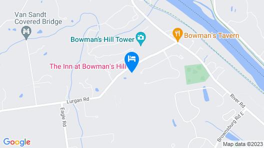 The Inn at Bowman's Hill Map