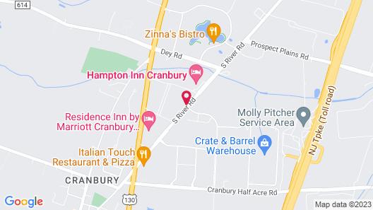 Hampton Inn Cranbury Map