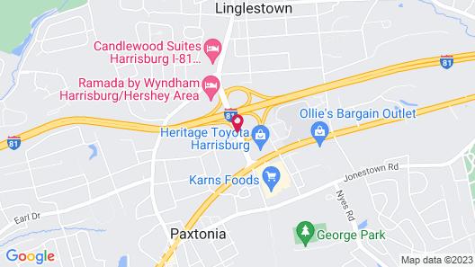 Quality Inn Harrisburg - Hershey Area Map