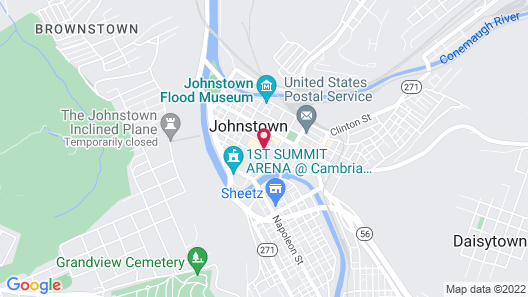 Holiday Inn Johnstown Downtown Map