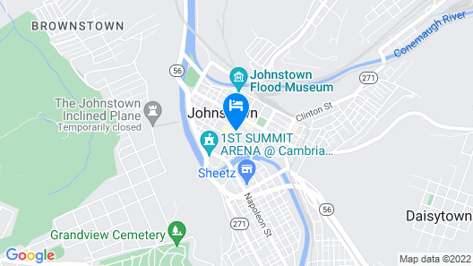 Holiday Inn Johnstown Downtown, an IHG Hotel Map