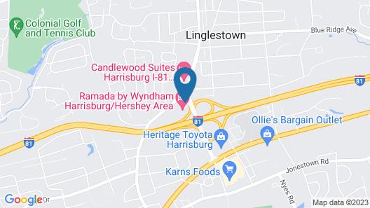 Ramada by Wyndham Harrisburg/Hershey Area Map