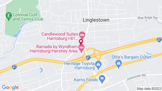 Candlewood Suites Harrisburg, an IHG Hotel Map
