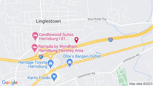 WoodSpring Suites Harrisburg Linglestown Map