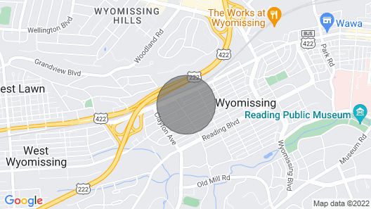 Charming Home in Wyomissing Map