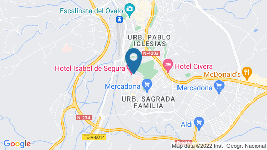 Hotel Isabel de Segura Map