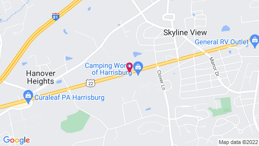 Best Western Harrisburg Hershey Hotel Map