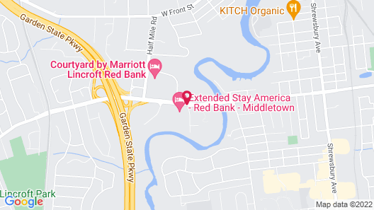 Extended Stay America - Red Bank - Middletown Map