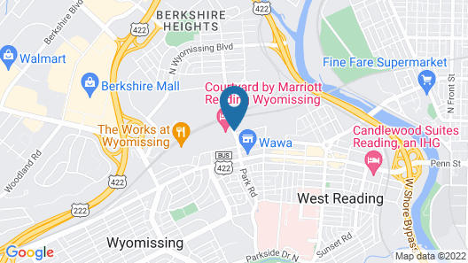 Courtyard by Marriott Reading Wyomissing Map
