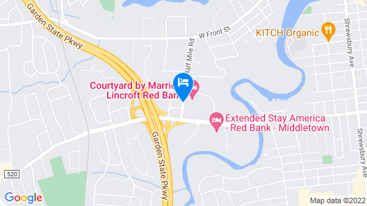 Courtyard by Marriott Lincroft Red Bank Map