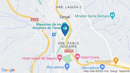 Hotel Teruel Plaza Map