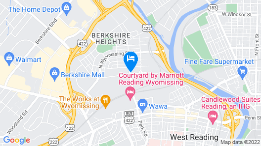 Holiday Inn Express & Suites Wyomissing, an IHG Hotel Map