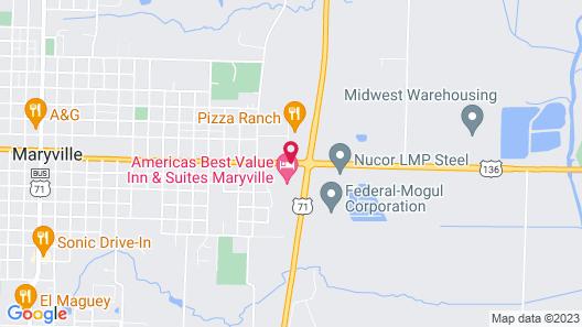 Americas Best Value Inn & Suites Maryville Map
