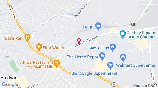 Comfort Inn Mifflin - Pittsburgh Map