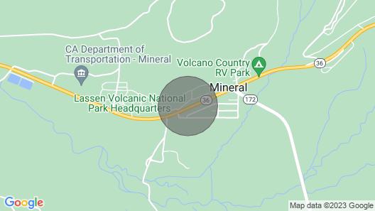 Cabin near Lassen Park Map