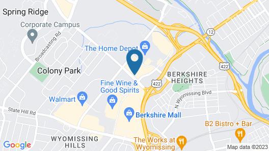 Radisson Hotel Reading Map