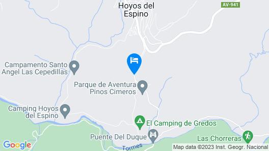 Hotel y Casas Rurales Alto Gredos Map