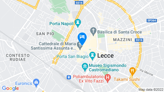 Palazzo G.Belli B&B Map