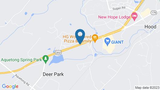 Clarion Inn & Suites New Hope-Lambertville Map