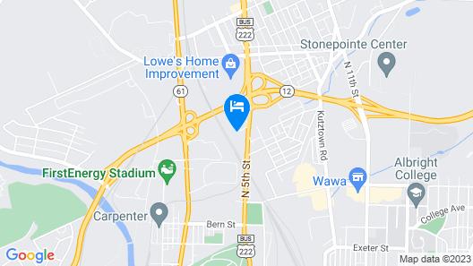 Comfort Inn Reading Map