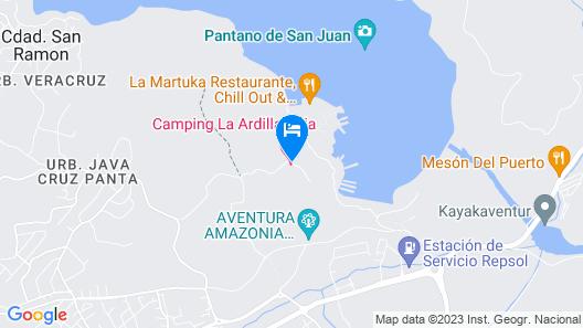 Camping La Ardilla Roja Map