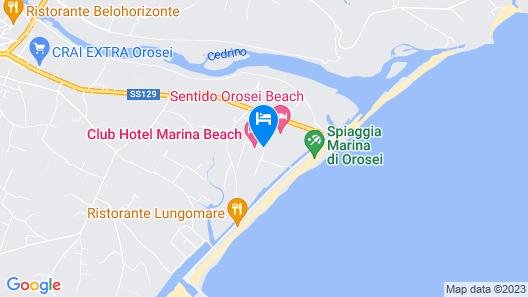 Club Hotel Marina Beach Map