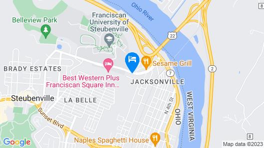 Hampton Inn Steubenville Map