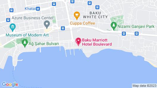 Baku Marriott Hotel Boulevard Map
