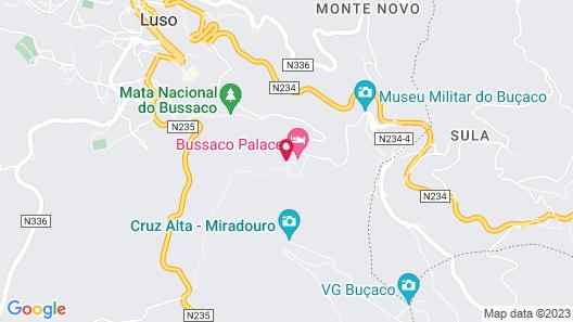 Bussaco Palace Hotel Map