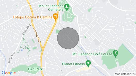 Heart of Mt. Lebanon-walk Anywhere-easy 2 Downtown Map