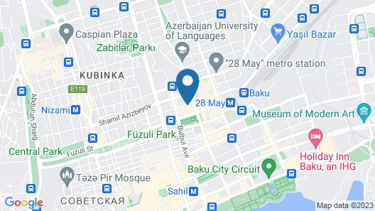 Diplomat Hotel Baku Map